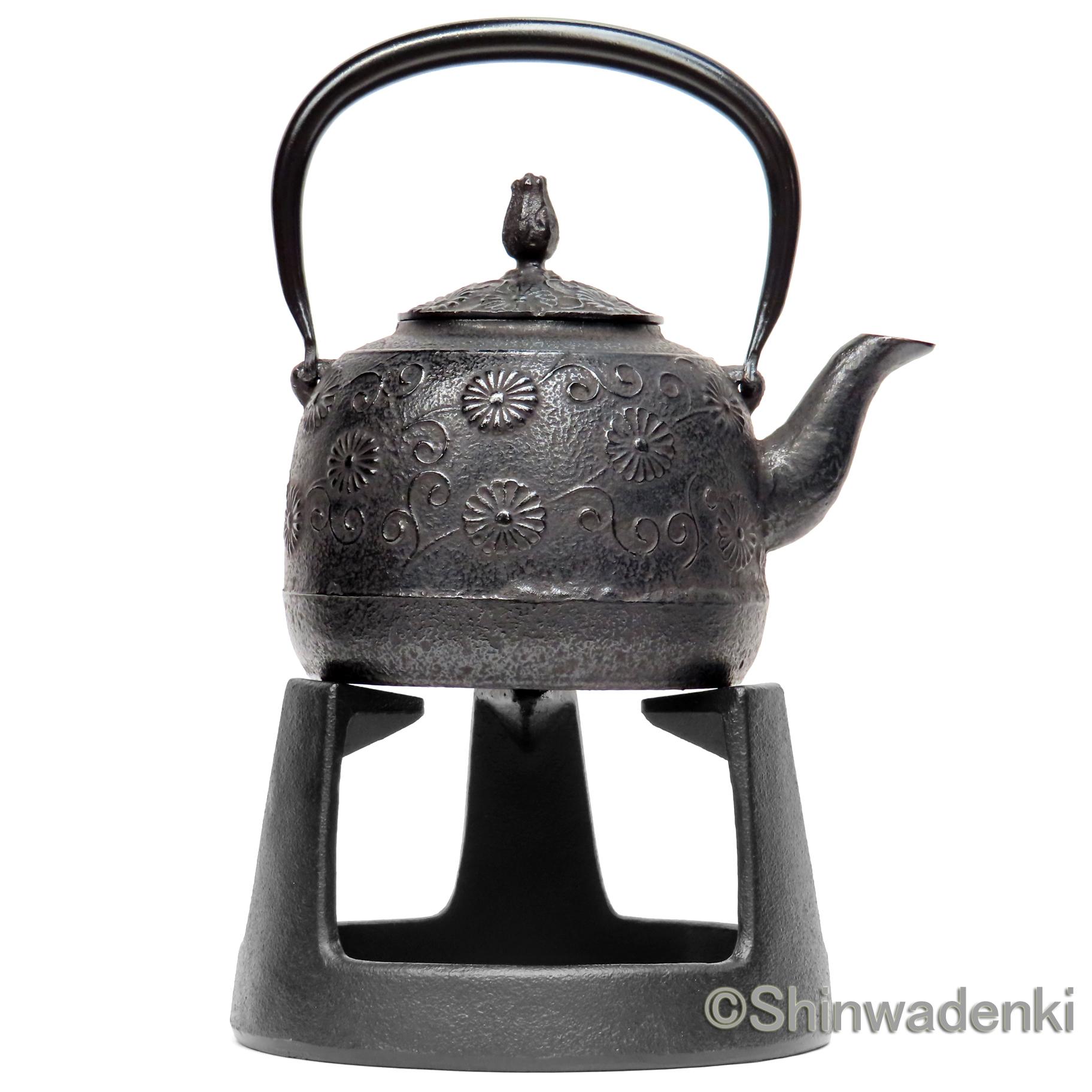 南部鉄器 鉄瓶 唐菊
