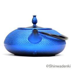 南部鉄器 南部鉄瓶 平丸アラレ(鉄蓋)